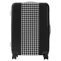 Black and White Houndstooth Luggage