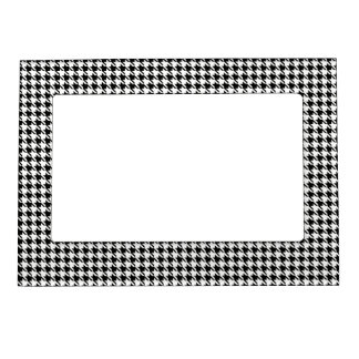 Black and White Houndstooth Magnetic Frame