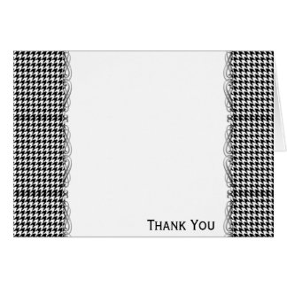 Black and White Houndstooth Manage this category Card