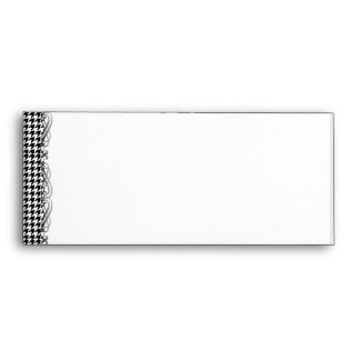 Black and White Houndstooth Manage this category Envelope