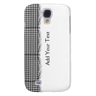 Black and White Houndstooth Manage this category Galaxy S4 Case