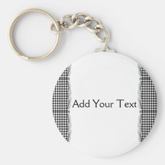 Black and White Houndstooth Manage this category Keychain