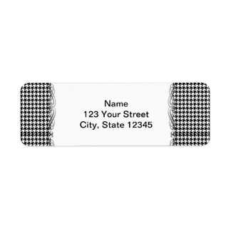 Black and White Houndstooth Manage this category Label