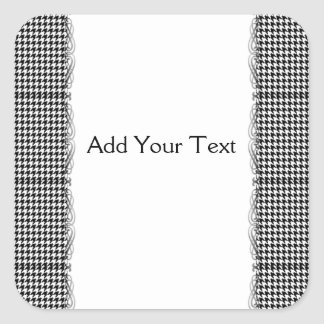 Black and White Houndstooth Manage this category Square Sticker
