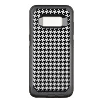 Black and White Houndstooth OtterBox Commuter Samsung Galaxy S8 Case