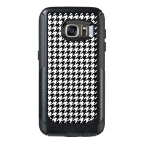 Black and White Houndstooth OtterBox Samsung Galaxy S7 Case