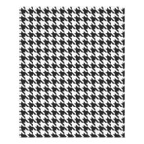 Black and White Houndstooth Pattern Flyer