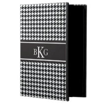 Black and White Houndstooth Pattern iPad Air Cover