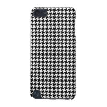 Black and White Houndstooth Pattern iPod Touch 5G Case