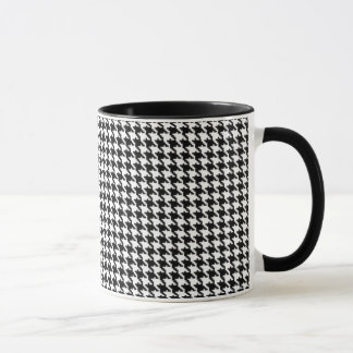 Black and White Houndstooth Pattern Mug