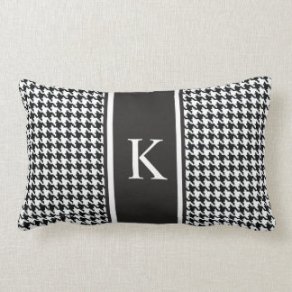 Black and White Houndstooth Pattern Throw Pillows