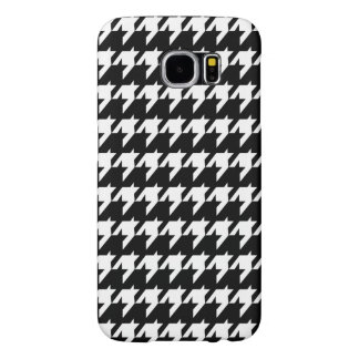 Black and white houndstooth samsung galaxy s6 case