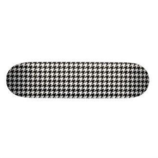 Black and White Houndstooth Skateboard Deck