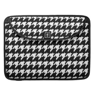 Black and white houndstooth sleeve for MacBooks