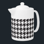 "Black and White Houndstooth Teapot<br><div class=""desc"">Black and White Houndstooth</div>"