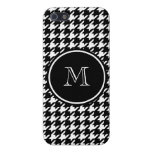 Black and White Houndstooth Your Monogram iPhone 5/5S Cover