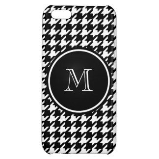 Black and White Houndstooth Your Monogram iPhone 5C Cases