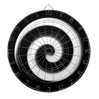 Black and White Hypnotic Regulation Dart Board