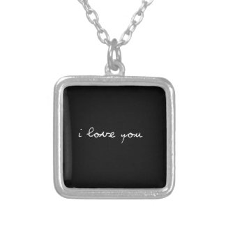 BLACK AND WHITE I LOVE YOU FEELINGS HAPPY RELATION PERSONALIZED NECKLACE