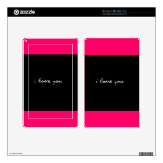 BLACK AND WHITE I LOVE YOU FEELINGS HAPPY RELATION KINDLE FIRE SKIN