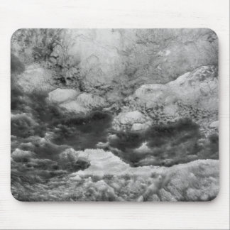 Black And White Ice Abstract Mouse Pad