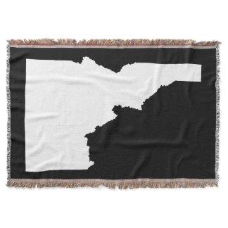 Black and White Idaho Shape Throw