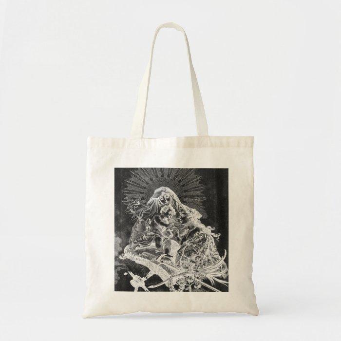 Black and White Illuminated Manuscript Bag