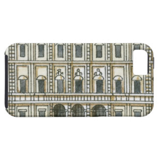Black and white illustration of facade of 18th iPhone 5 covers
