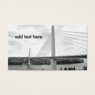 black and white image of a cable stayed bridge business card