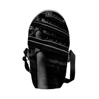 Black and White Industrial Pipes, Architecture Courier Bags