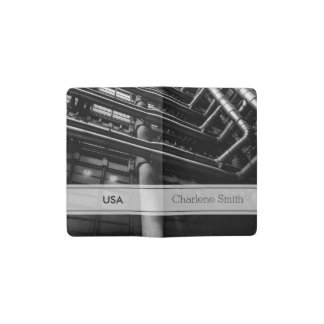 Black and White Industrial Pipes, Architecture Pocket Moleskine Notebook