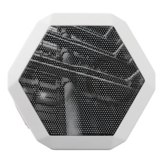 Black and White Industrial Pipes, Architecture White Bluetooth Speaker