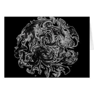 Black and White Ink Swirl Card