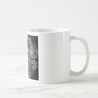 Black and White Ink Swirl Coffee Mug
