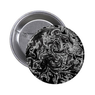 Black and White Ink Swirl Pinback Button
