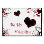 black and white inmate valentine card