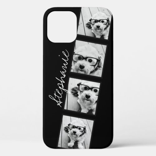 Black and White Instagram Photo Collage iPhone 12 Case