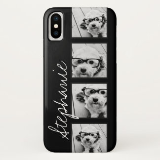Black and White Instagram Photo Collage iPhone X Case