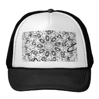 Black and White Intricate Pattern Hat