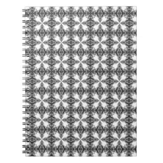 Black and White Intricate Pattern. Notebook