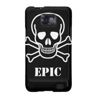 Black and White inverted Epic Skull n bones Samsung Galaxy Covers