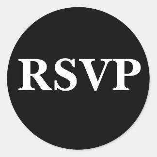 Black And White Invitation Seal Classic Round Sticker