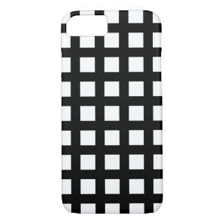Black and White iPhone 7 Cases - Grid Check
