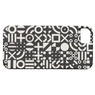 Black and White Irregular Geometric Pattern iPhone SE/5/5s Case