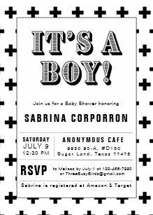 Black and white baby shower invitations zazzle black and white its a boy baby shower invitation filmwisefo