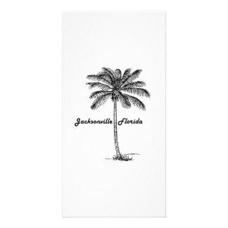 Black and White Jacksonville & Palm design Card