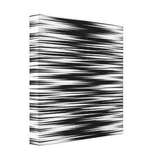 Black and White Jagged Zigzag Canvas Print
