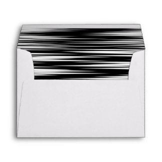 Black and White Jagged Zigzag Envelope