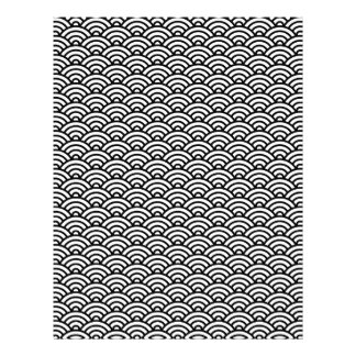 Black and white Japaneese wave scrapbook paper