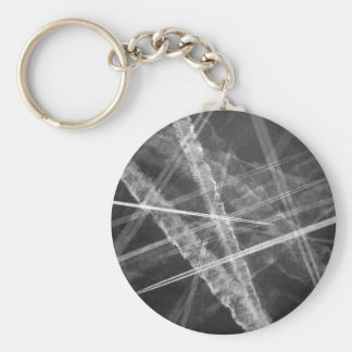 Black and white Jet Trails Keychain